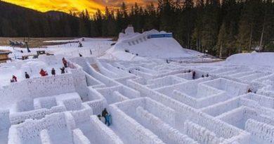 Полска го гради најголемиот снежен лавиринт во светот