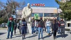Членовите на СКРМ од Прилеп се солидаризаа со колегите од Струмица и го поддржаа нивниот протест во Скопје