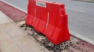 """Поради слегнување на земјиштето се вршат реконструктивни зафати на булеварот """"Гоце Делчев"""""""