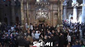 ВО ЖИВО: Се чека слегувањето на Благодатниот оган на Христовиот гроб во Ерусалим