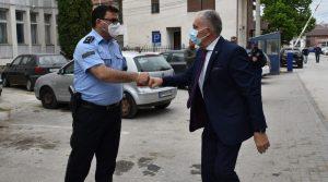 Градоначалникот Јованоски во посета на ПС Прилеп по повод Денот на македонската полиција