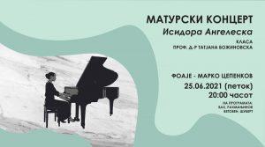 Концерт на Исидора Ангелеска во петок во Цепенков