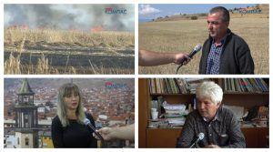 ВИДЕО – Палењето на стрништата – негативна пракса кај македонските земјоделци која не носи буквално никаков бенефит